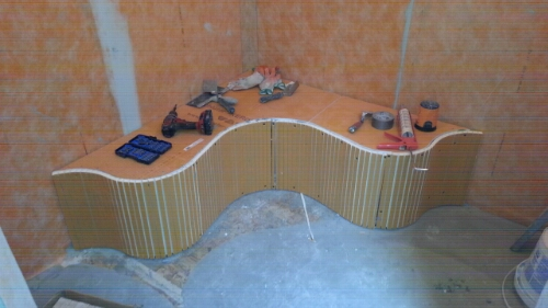 Image. Heres A Pic Of A Custom Shower Bench ...